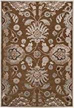 Remi & Cabot Artistic Weavers Lauren Chocolate Viscose and Chenille 5 ft. 1 in. x 7 ft. 6 in. Area Rug