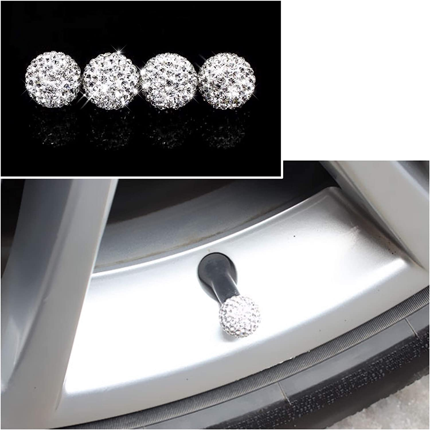 CaserBay Rhinestone Screw Caps /& Rust Resistant Stainless Steel Screws Fasteners for License Plate Frame Paw Print Tire Valve Caps /& Screw Caps【Colorful】