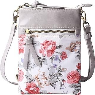 Original Womens Small Crossbody Bag Vegan Leather Cell Phone Purse Holder Wallet Functional Multi Zip Pocket For Women