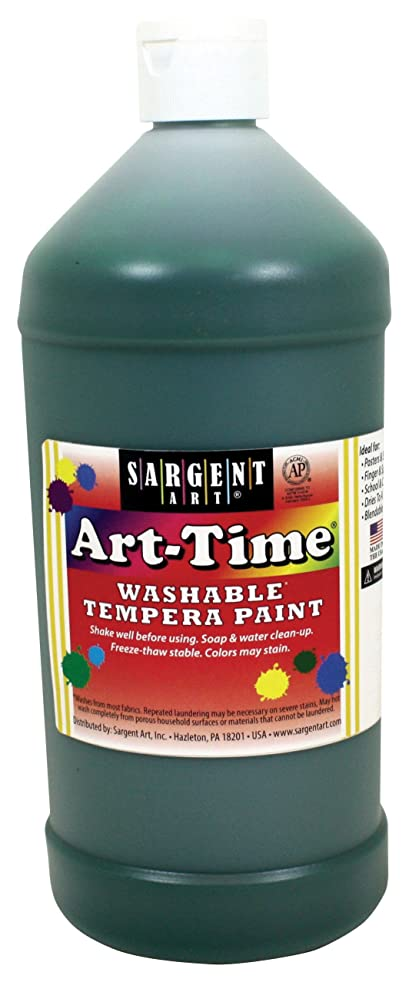 Sargent Art 17-3566 32 oz Green Art-Time Washable Tempera Paint