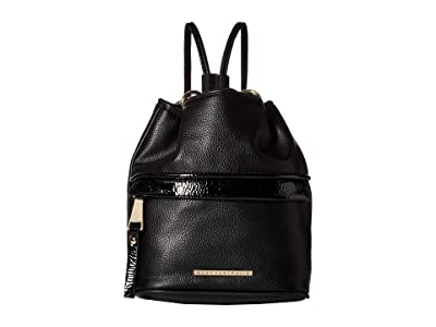 QUAY AUSTRALIA Drawstring Backpack (Black/Gold) Backpack Bags