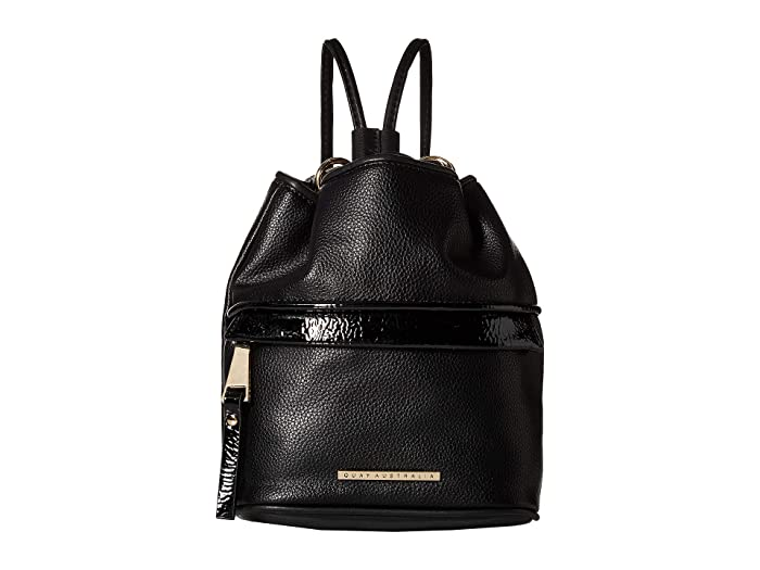 Drawstring Backpack (Black/Gold) Backpack Bags