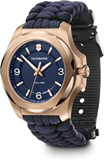 Victorinox Swiss Analog Watch for Women - Blue Dial with Blue para-Cord Strap, Stylish Wrist Watch for Casual and Sporty W...