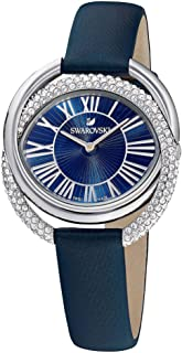 Ladies' Swarovski Duo Blue Leather Strap Crystal Watch 5484376
