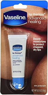 Vaseline Lip Therapy Lip Balm Tube, Advanced Healing Lip Moisturizer, 0.35 oz (pack of 12)