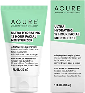 Acure ACURE Ultra Hydrating 12 Hour Moisturizer | 100% Vegan | Intense Moisture for Super Thirsty Skin | Adaptogens & Supe...