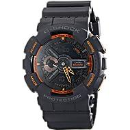 Casio Men's GA-110TS-1A4 G-Shock Analog-Digital Watch With Grey Resin Band