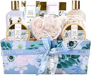 Spa Luxetique Coffret Cadeau pour Femme, Coffret de Bain et de Soins,12Pcs Coffret soin beaute Parfum de Jasmin, Bain Mous...