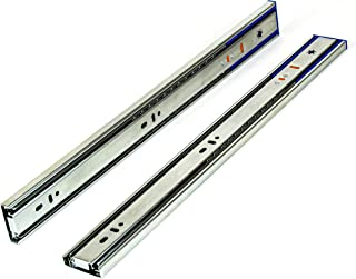 Berta, Full Extension, Soft Close, Ball Bearing, Side Mount, 18 Inch Cabinet Drawer Slide, 100 lb Load Rating with Installation Screws (10 Pair)