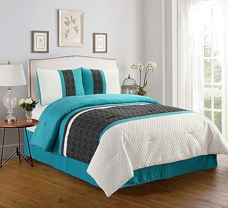 Empire Home Enas 4 Piece Comforter Set Sale Queen Home Kitchen