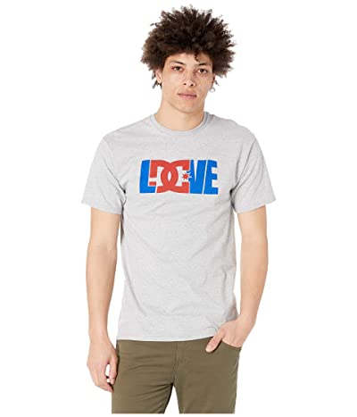 DC For the Love Short Sleeve T-Shirt (Grey Heather) Men