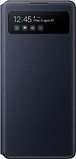 Samsung S View Smartphone Cover EF EG770 für Galaxy S10 Lite, Handy Hülle, stoßfest, Schutz Case, integriertes Sichtfenster schwarz