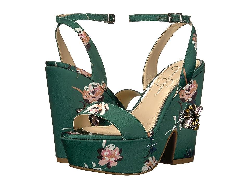 Jessica Simpson Carena (Emerald Multi Rylie Floral Satin) Women