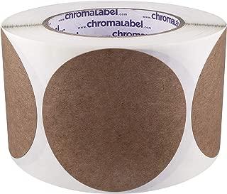 ChromaLabel Kraft Dot Labels | 500/Roll (3 inch)