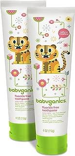 Babyganics Fluoride Free Toothpaste, Watermelon, 4oz Tube (Pack of 2)