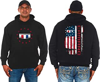 JH DESIGN GROUP Men's Chevy Camaro U.S.A. Flag 2-Sided Pullover Hoodie