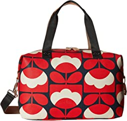 Spring Bloom Vinyl Luggage Medium Zip Holdall