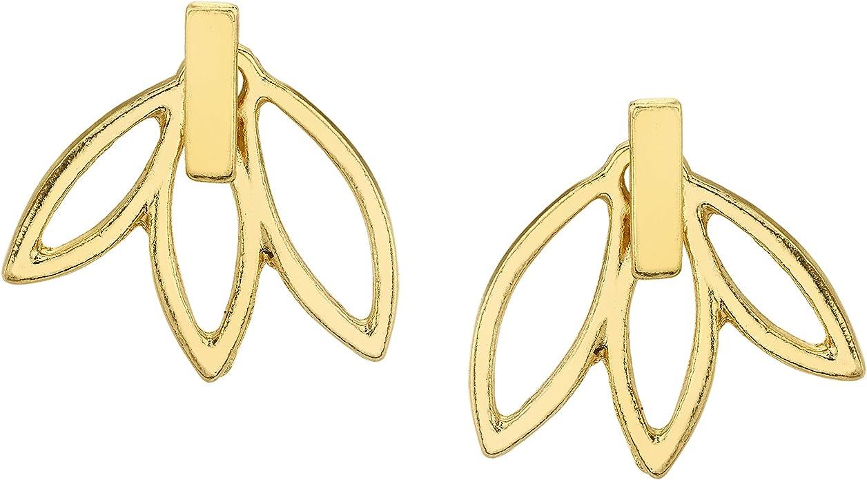 Sterling Silver Dainty Chinese Lotus Flower Earrings