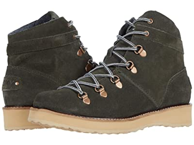 Roxy Spencir Leather Boots (Olive) Women