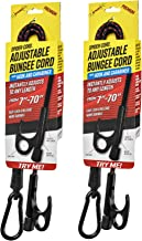 SPIDER Heavy-Duty Bungee Cords with Adjustable & Locking Length, Patent Pending, Tie-Down, with a Hook and Carabiner, 2-Pack