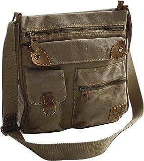 Jennifer Jones - präsentiert von ZMOKA Canvas Schulter Tasche von Harolds - geräumige Umhängetasche Messengerbag VintageHandtasche - Denim Natura - präsentiert von ZMOKA