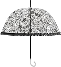 Becko Stick Clear Canopy Bubble Transparent Dome Shape Princess Style Rain Umbrella
