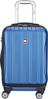 "DELSEY Paris Helium Aero International Carry on Expandable Spinner Trolley - 19"", Blue Textured (Blue) - 400764032"