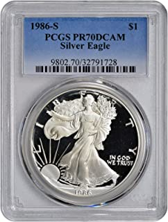 1986 S American Silver Eagle $1 PR-70 PCGS