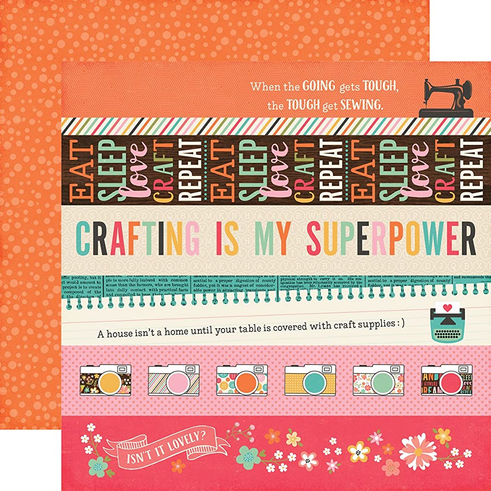 Echo Park Paper IBC138013 I'd Rather Be Crafting Double-Sided Cardstock 12