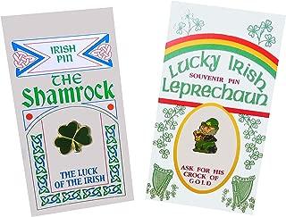 Set of Two Pins: Irish Leprechaun and Lucky Shamrock