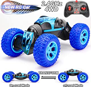 Rc Cars Toy for Boys, Remote Control Car Toys Race Car for Kids Boys Girls Age 6 7 8 9 10 11 12 -16 Year Old Birthday Gifts 4WD 2.4Ghz Dual Mode 360° Rotating Racing Car, Kids Toys Buggy Hobby Car