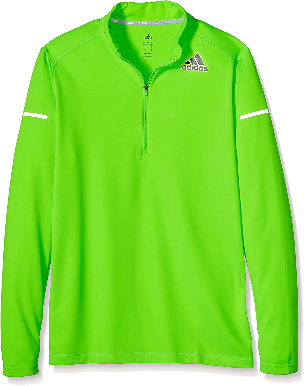Adidas Herren Langarm Shirt Sequencials Climacool 1 2 Zip Mesh