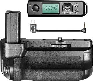 BestLight Empuñadura de batería con Pantalla LCD de 24 GHz integrada Compatible con cámara Sony A6300 Funciona con batería Sony FW50 (no incluida)