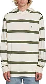 Volcom Men's Shaneo Stripey Long Sleeve Hooded Shirt