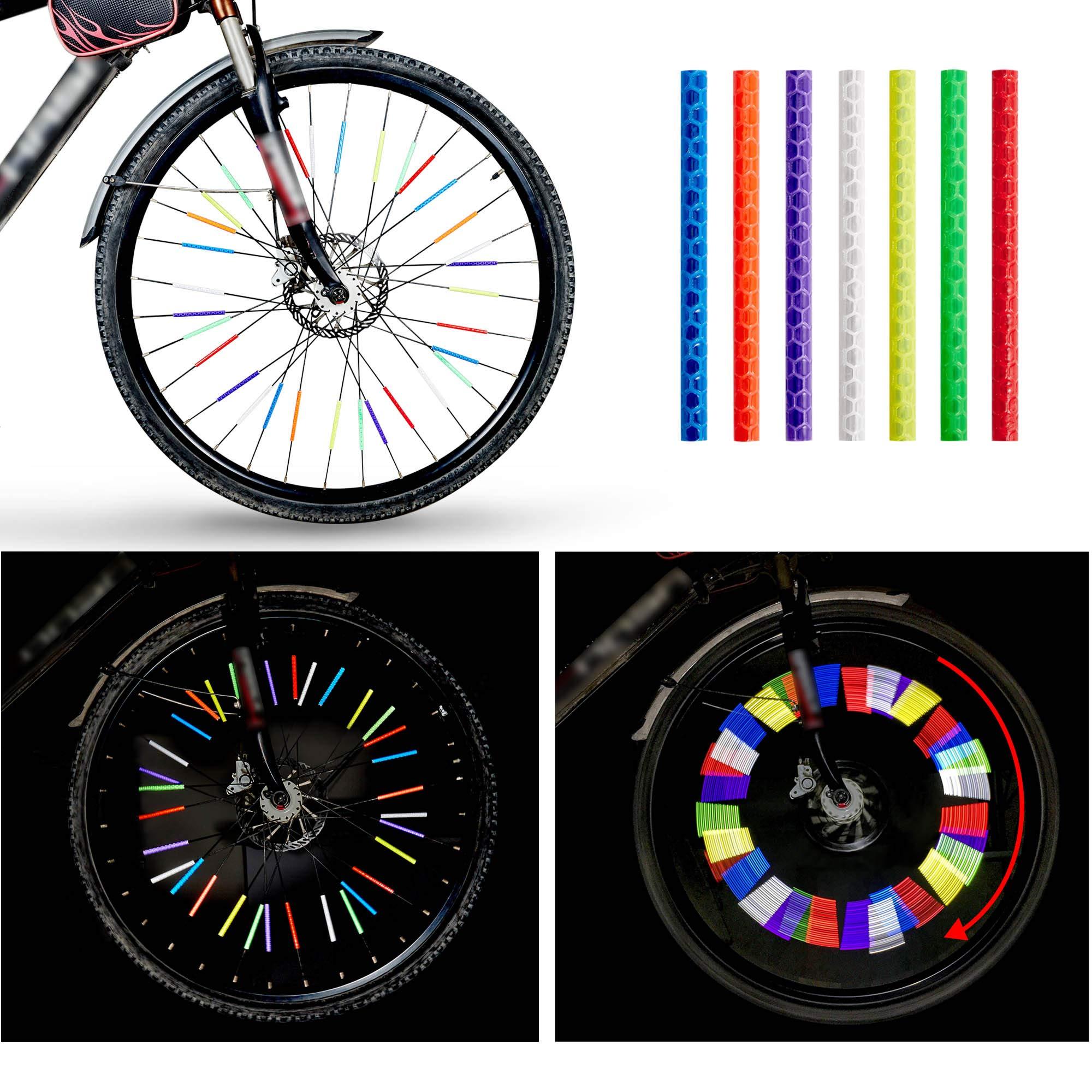 12Pcs Bicycle Mountain Bike Riding Wheel Rim Spoke Clip Reflector Warning C1L1