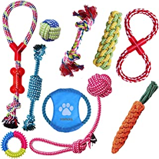 Dog Toys Aggressive Chewers - HMNXG Puppy Toys chew Toys Dog Toys for Small Dogs Rope for Medium to Large Dogs - 10 Pcs