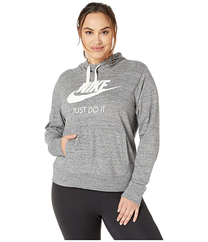 Nike Plus Size Sportswear Gym Vintage Hoodie HBR (Carbon Heather/Sail) Women