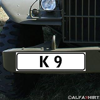 Magnetschild K9 Kampfhunde Hundeführer Belgischer Schäferhund BW Zug #A342
