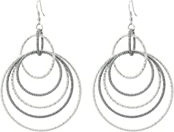 Anyone's Guess Multi Linked Hoop Earrings