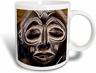 3dRose mug_69536_1 South Africa, Durban, Zulu Tribe Mask-Af42 Cmi0179 Cindy Miller Hopkins Ceramic Mug, 11-Ounce