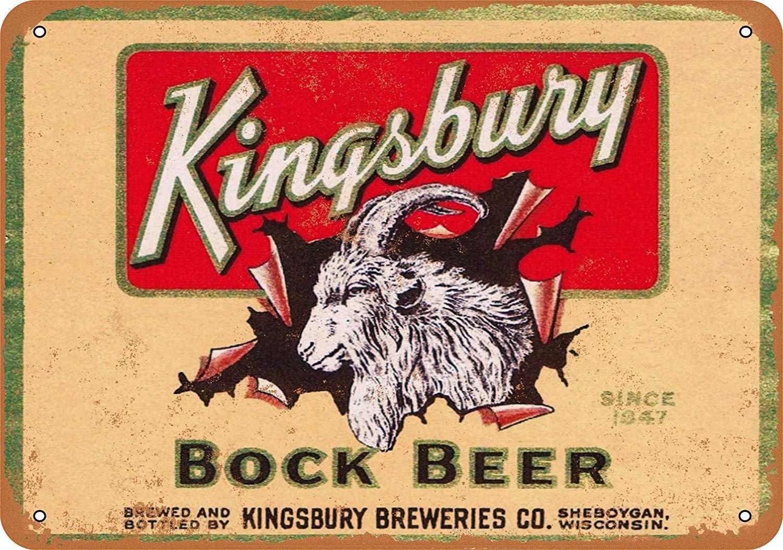 Snowae Kingsbury - Póster de Metal con Texto en inglés Bock Beer ...