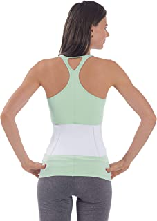 NYOrtho Tapered Abdominal Binder Compression Wrap - Breathable Stomach Support Post Injury or Surgery- with Contoured Body-Specific Design - 42-48 Inch Waist