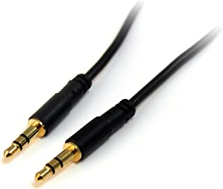 StarTech.com MU3MMS 3 feet Slim 3.5mm Stereo Audio Cable - M/M