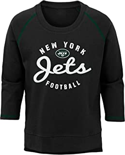 NFL New York Jets Youth Boys Overthrow' Pullover Top Black, Youth X-Large(16)