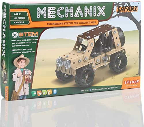 MECHANIX Safari, Construction Toy, Building Blocks, Car Toys, for 6+ yrs Boys and Girls