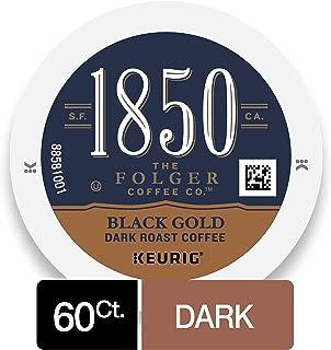 1850 Black Gold Dark Roast Coffee, K Cups for Keurig Makers, 10 Count, Pack of 6