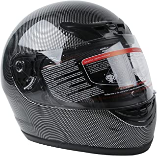 Sponsored Ad - XFMT DOT Adult Motorcycle Flip Up Full Face Helmet Street Dirt Bike ATV Helmets (Carbon Fiber, Medium)
