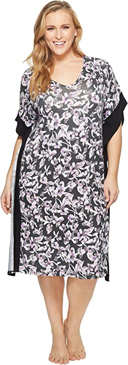 Plus Size Printed Caftan