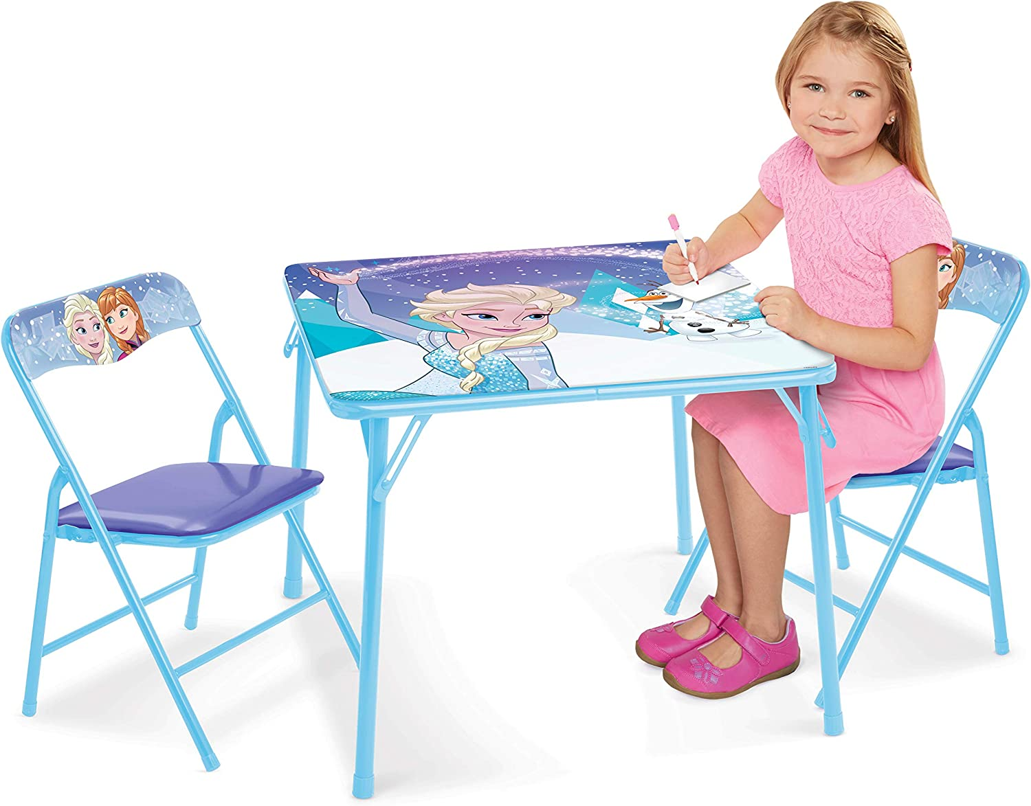 Frozen New Fall 2018 Disney's Sparkle Like Magic Activity Table (2) Chairs, Frozen
