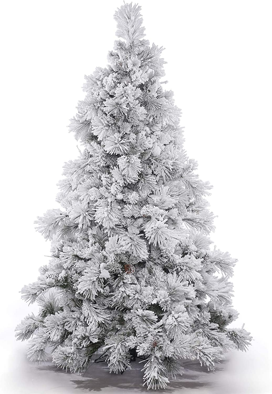 Vickerman 10' Flocked Alberta Artificial Ranking Max 52% OFF TOP13 Christmas Unlit Tree -